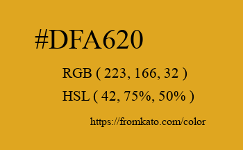 Color: #dfa620