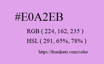 Color: #e0a2eb