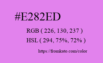 Color: #e282ed