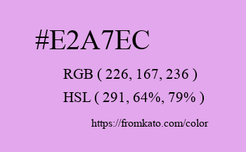 Color: #e2a7ec