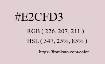 Color: #e2cfd3