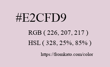 Color: #e2cfd9