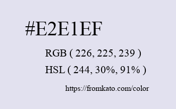 Color: #e2e1ef