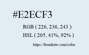 Color: #e2ecf3