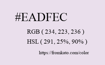 Color: #eadfec