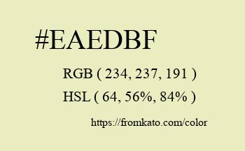 Color: #eaedbf
