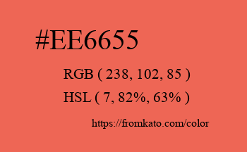 Color: #ee6655