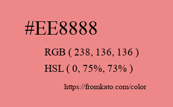 Color: #ee8888