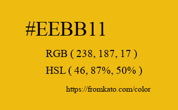 Color: #eebb11