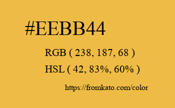 Color: #eebb44