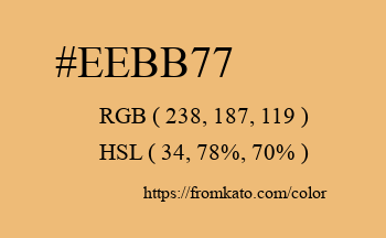 Color: #eebb77