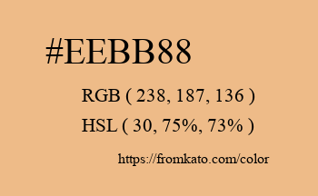 Color: #eebb88