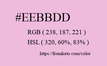 Color: #eebbdd