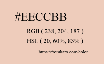 Color: #eeccbb