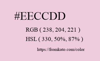 Color: #eeccdd