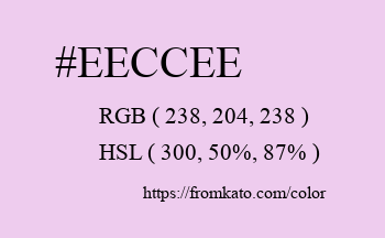 Color: #eeccee