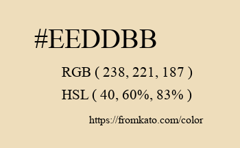 Color: #eeddbb