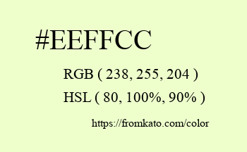 Color: #eeffcc