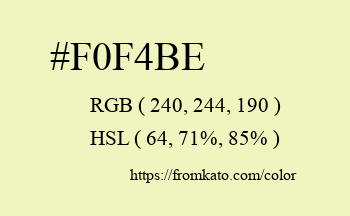 Color: #f0f4be
