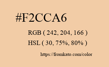 Color: #f2cca6