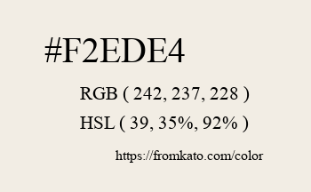 Color: #f2ede4