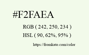 Color: #f2faea