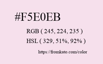 Color: #f5e0eb
