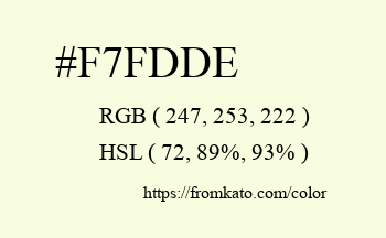 Color: #f7fdde