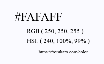 Color: #fafaff