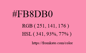 Color: #fb8db0