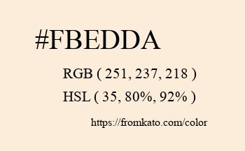 Color: #fbedda