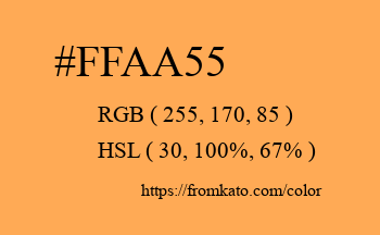 Color: #ffaa55