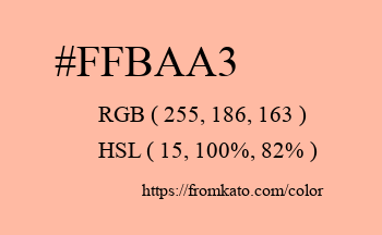 Color: #ffbaa3