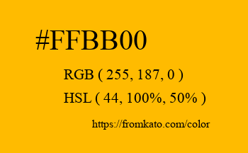 Color: #ffbb00