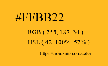 Color: #ffbb22