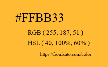Color: #ffbb33