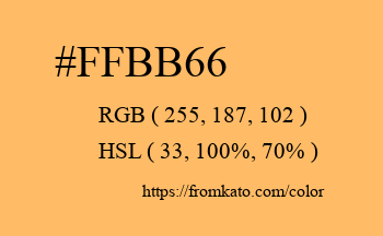 Color: #ffbb66