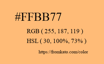 Color: #ffbb77
