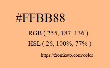 Color: #ffbb88
