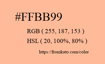 Color: #ffbb99