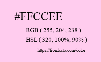 Color: #ffccee