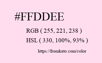 Color: #ffddee