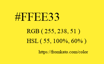 Color: #ffee33