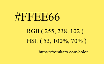 Color: #ffee66