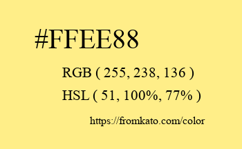 Color: #ffee88